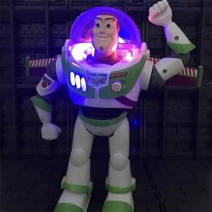 Image 3 - New Toy Story Buzz Lightyear 4 Pode Andar Brilhando Inglês Canções Action Figure Modelo Coleção Crianças Presentes
