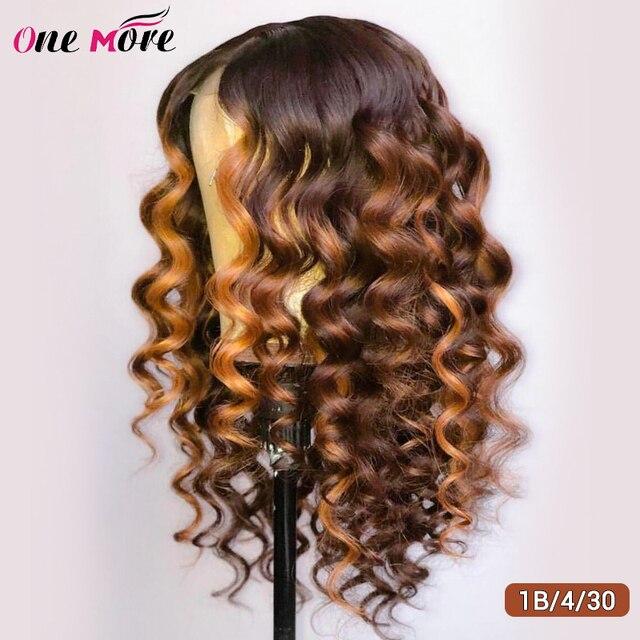 Peluca de onda profunda suelta de color pelucas de cabello humano frontal de encaje 13x4 Remy amarillo Rosa verde azul púrpura jengibre 99J rubio miel para mujeres