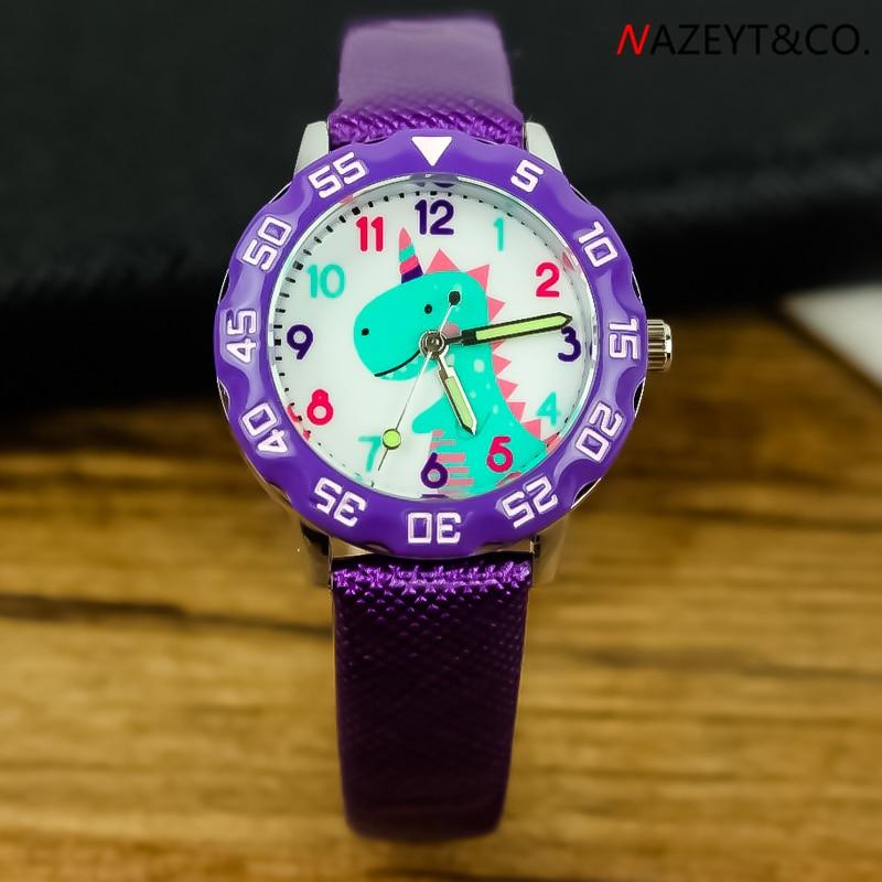 Promotion Little Boys Girls Cute Annimal Dinosaur Dial 3D Quartz Watch Children Wristwatch Kid Leather Luminous Hands Gift Clock