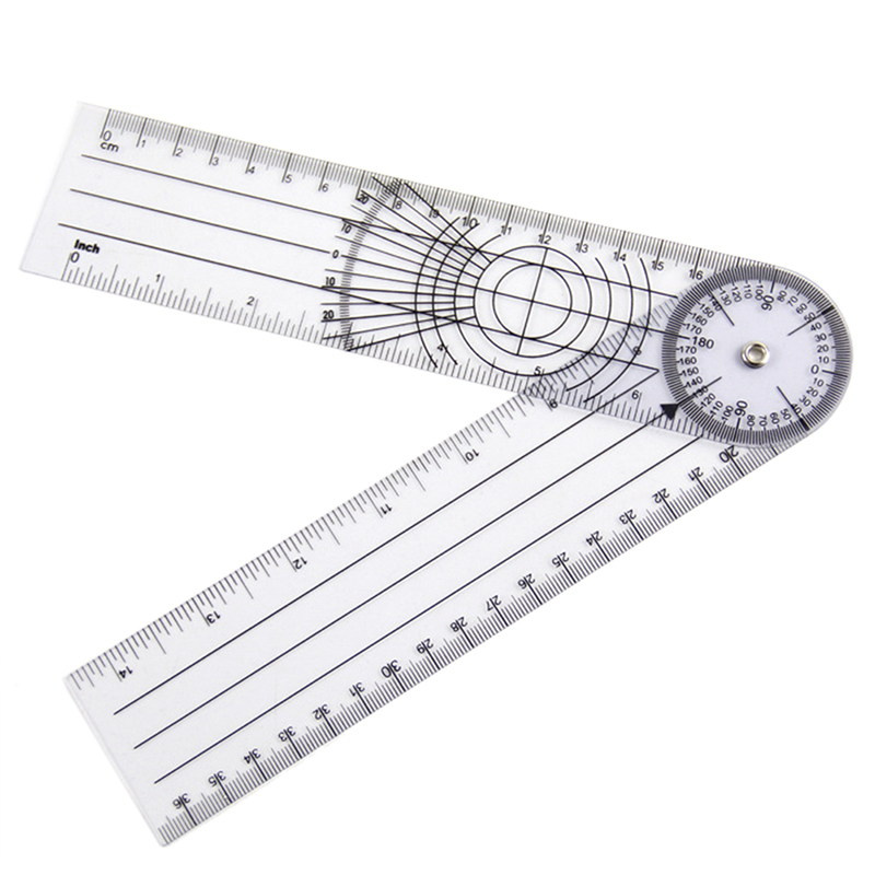 Userful Multi Ruler Goniometer Angle Medical Spinal Ruler Professional 360 Degree Measuring Tool Spinals Goniometer Protractors|Protractors| |  - title=