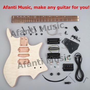 Nowy projekt! Afanti muzyka bezgłowy zestaw DIY gitara DIY gitara elektryczna (ZQN-007) tanie i dobre opinie Rosewood Zebrawood Nauka w domu Do profesjonalnych wykonań Beginner Unisex CN (pochodzenie) Drewno z Brazylii Electric guitar
