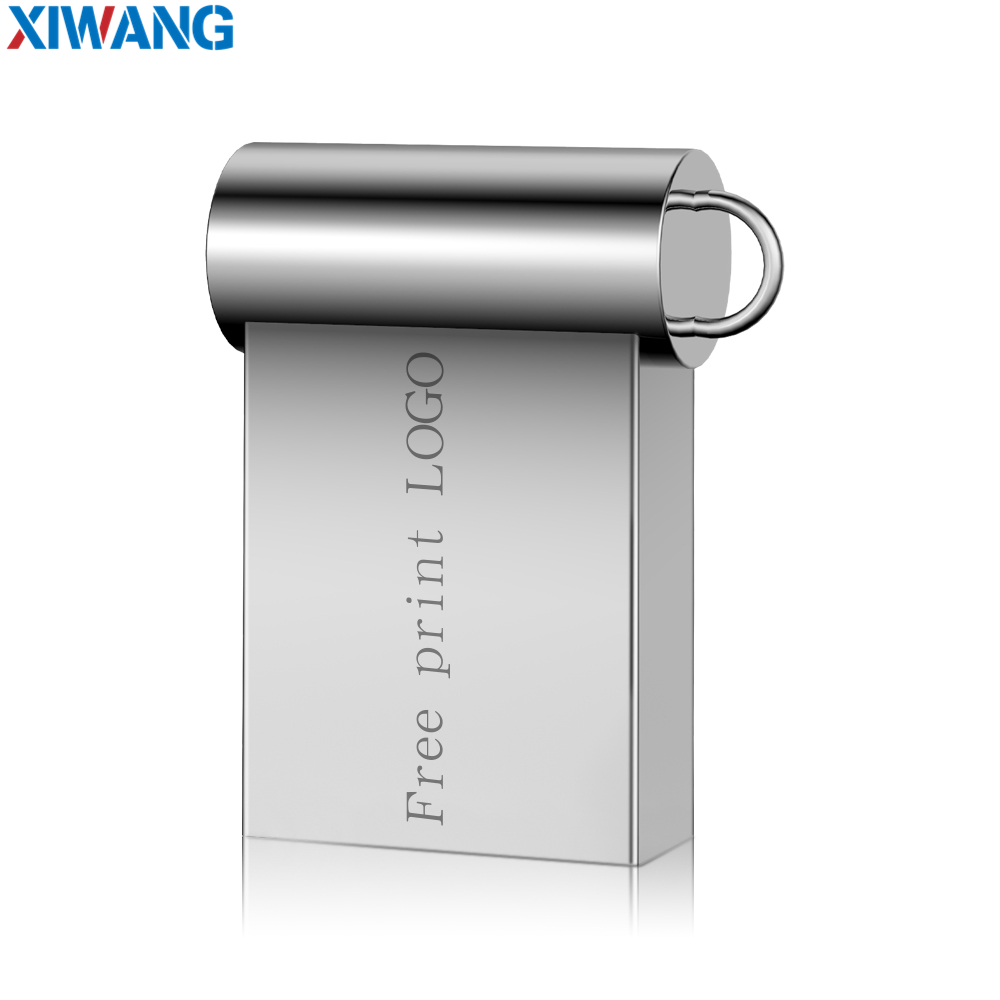 Super mini usb flash drive 32GB metal usb stick 3.0 16GB pen drive 64GB pendrive 128GB flash disk 8GB key ring Free custom LOGO