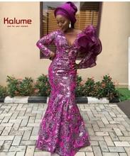 2019 wysokiej jakości francuska koronka na siateczce najnowsza afrykańska tiulowa koronka z cekinami dla nigeryjskich mężczyzn kobiety ubierają PartyF1592