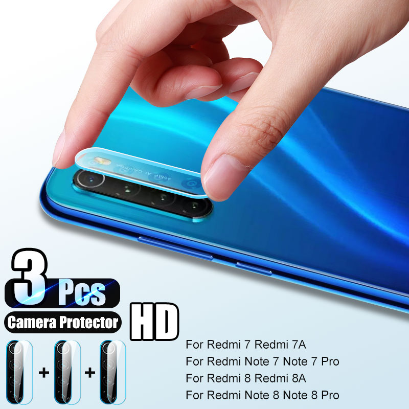 3Pcs Camera Lens Protective Glass For Redmi Note 8 7 6 5 Pro 6a 8t Screen Protector For Xiaomi Redmi 7a 7 8a 8 8t Tempered Glass