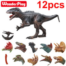 Wonderplay Jurassic Park Dinosaur Toys Model for Child Dragon Dinosaur Toy Set for Boys Velociraptor Animal Action Play Figure
