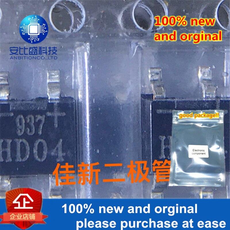 100pcs 100% New And Orginal  HD04 0.8A400V SOP-4 Patch Bridge In Stock