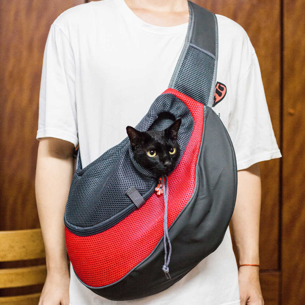 Slings Dog Carrier Shoulder Bag Outdoor Mesh Backpack Oxford Pet Travel  Cats Tote Breathable Front Single Bag|Dog Carriers| - AliExpress