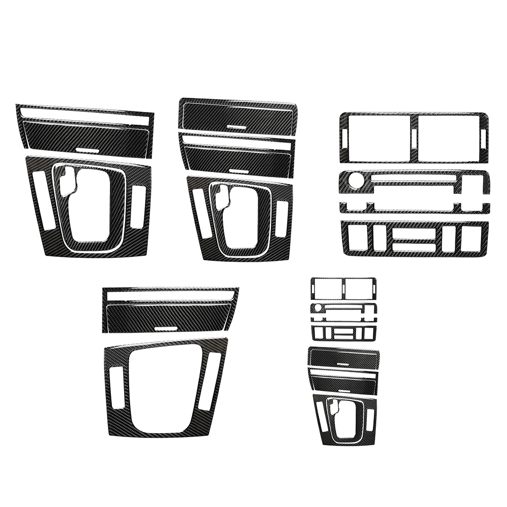 Car Center Console Gear Shift Panel Cover Trim Carbon Fiber Stickers For BMW 3 Series E46 1998-2005 LHD