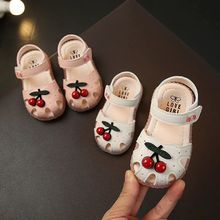Summer Baby Sandals for Girls Infant Kids Princess Walkers Baby Little GirlsCherry Closed Toe Toddler  Shoes Sandals Size 15-30