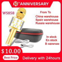 Ws858 Microphone Speaker-Player Singing Music Russia for Playing Stock