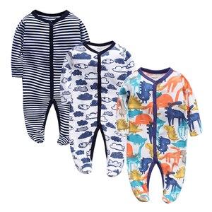 Image 1 - 3 adet/grup Bebek Giyim Yenidoğan tulumlar Bebek Erkek Kız Romper Giysileri Uzun Kollu Bebek Ürün 2019 yeni Bebek Giysileri
