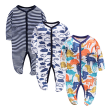 3Piece/lot Baby Clothing Newborn jumpsuits Baby Boy Girl Romper Clothes Long Sleeve Infant Product 2019NewBaby Clothes