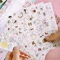 6 листов/комплект Kawaii Molang кролик ПВХ декоративная Стикеры s Скрапбукинг