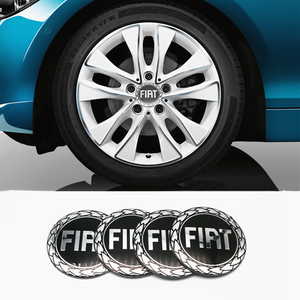 4 Uds accesorios de coche de aluminio emblema del coche centro de la rueda pegatinas para Fiat Viaggio Abarth Punto 124 125 500 insignia de estilo de coche