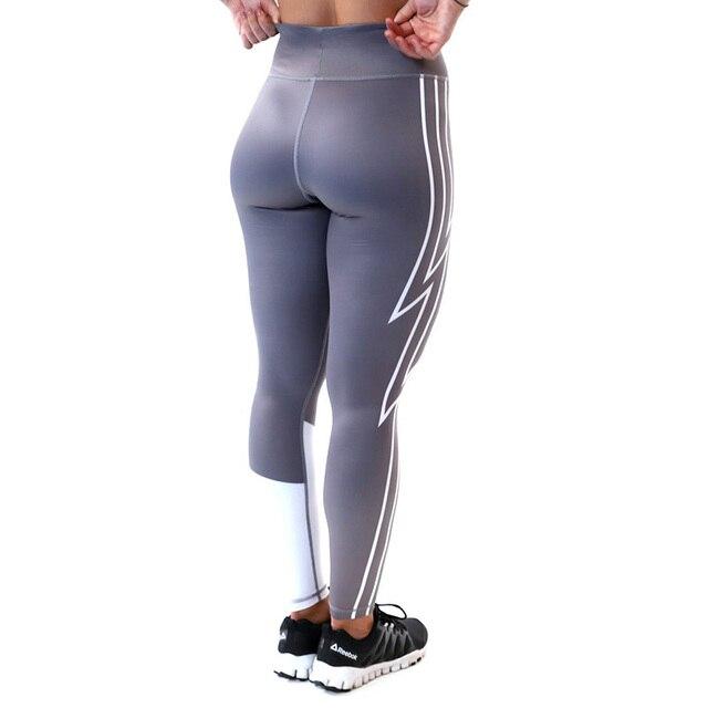 Kaminsky offre spéciale haute élastique jambières dexercices pour les femmes pousser vers le haut Leggings impression foudre fille pantalon décontracté vêtements de sport pour femmes