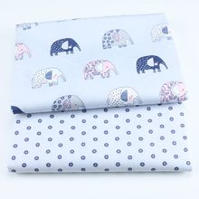 100% Cotton Fabric Printed Patchwork Cloth Textile Twill DIY Sewing Doll Skirt Bed Sheet Thin Breathable