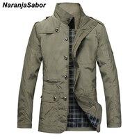 NaranjaSabor Fashion Thin Men's Jackets Hot Sell Casual Wear Comfort Windbreaker Autumn Overcoat Necessary Spring Men Coat N483