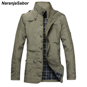 Image 1 - NaranjaSabor Fashion Thin Mens Jackets Hot Sell Casual Wear Comfort Windbreaker Autumn Overcoat Necessary Spring Men Coat N483