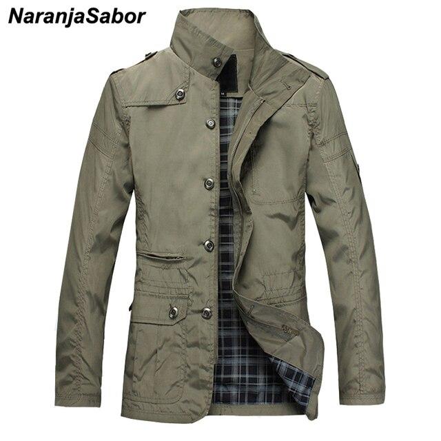 NaranjaSabor Fashion Thin Mens Jackets Hot Sell Casual Wear Comfort Windbreaker Autumn Overcoat Necessary Spring Men Coat N483