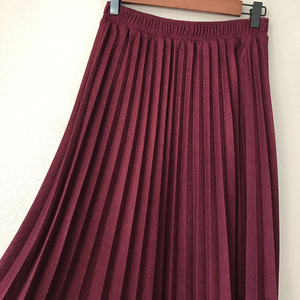 Image 5 - Sherhure 2019 冬の女性のウールのスカートハイウエスト A ラインのロングプリーツスカート高品質の女性のスカート段 Faldas ペチコートファムサイア