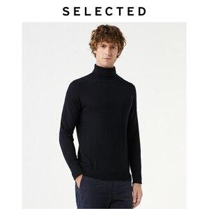 Image 2 - Select nouveau 100% laine à col haut tricoté pulls hommes col roulé hiver pull S