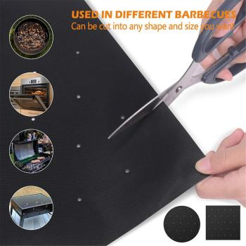 1/3/5PCS Non-stick BBQ Grill Mat Baking Mat Cooking Grilling Sheet Heat Resistance Cleaned Kitchen For Party image