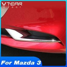 Vtear-embellecedor de marco de LUZ ANTINIEBLA TRASERA delantero para Mazda 3, accesorios de decoración Exterior, ABS cromado, modificación de coche, 2020, 2019