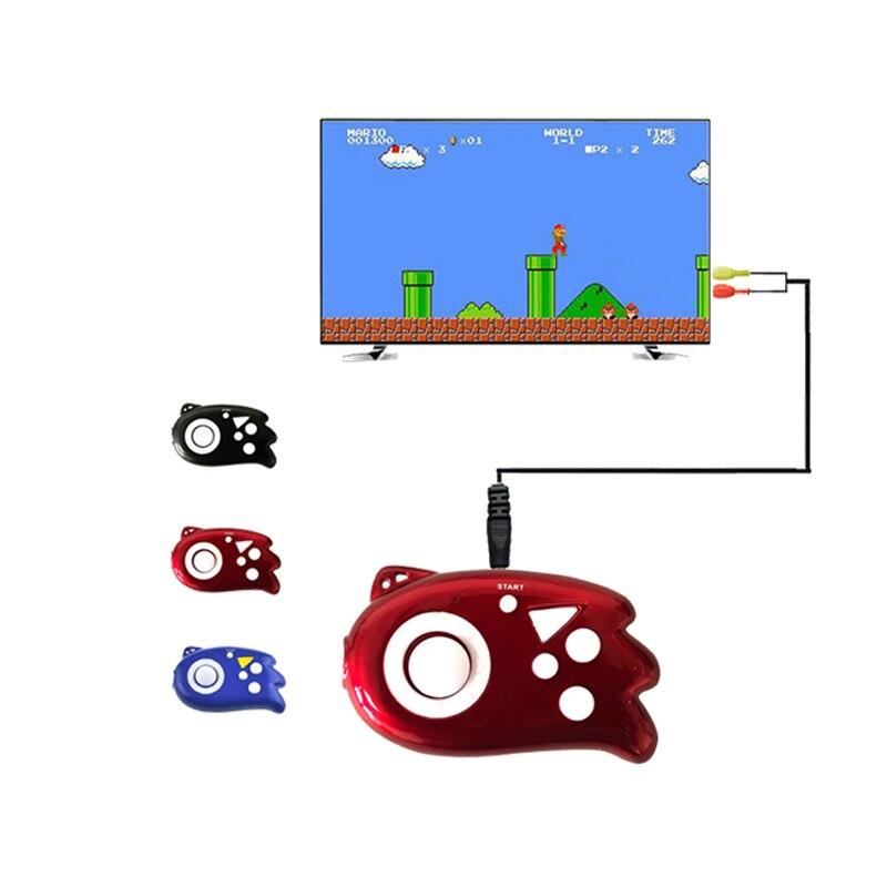 미니 비디오 게임 콘솔 플레이어 컨트롤러 내장 89 클래식 게임 가족 tv 비디오 출력 플러그 휴대용 선물 완구
