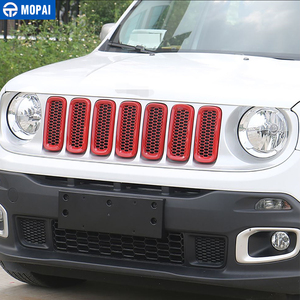 Image 5 - MOPAI Car Grille Cover Stickers for Jeep Renegade 2016 208Car Front Head Light Lamp Decoration Cover for Jeep Renegade 2016 2018