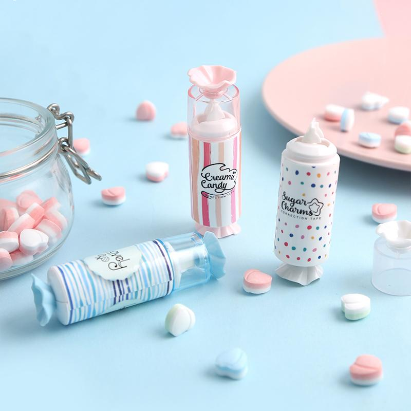 Mohamm Cute Candy White Out Correction Tape School Supplies Korean Stationery Kawaii Accessories