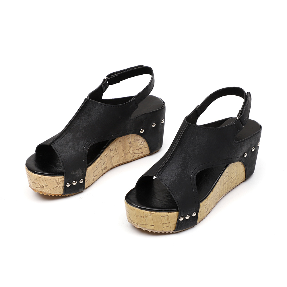 Rome Open-toed Women Sport Sandals Wedge Hollow Out Women Sandals Outdoor Cool Platform Shoes Women Beach Summer Shoes 2020