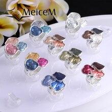 MeiceM 2021 Classic Circle Enamel Ring Big Geometric Rings for Women Metal Adjustable Ring Female Wholesale Luxury Brand Jewelry