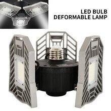Складной светодиодный светильник для гаража, светильник с высоким заливом, супер яркий горный светильник, 60 Вт, 4300лм, светильник для помещений, AC85-277V, стояночный промышленный светильник