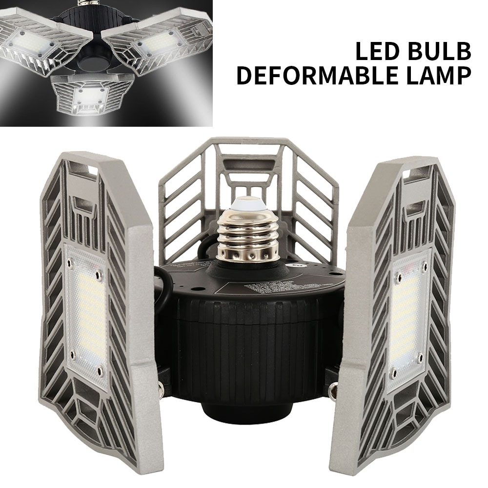 Folding LED Garage Light High Bay Light Super Bright Mining Light 60W 4300Lm Indoor Light AC85-277V Parking Industrial Light