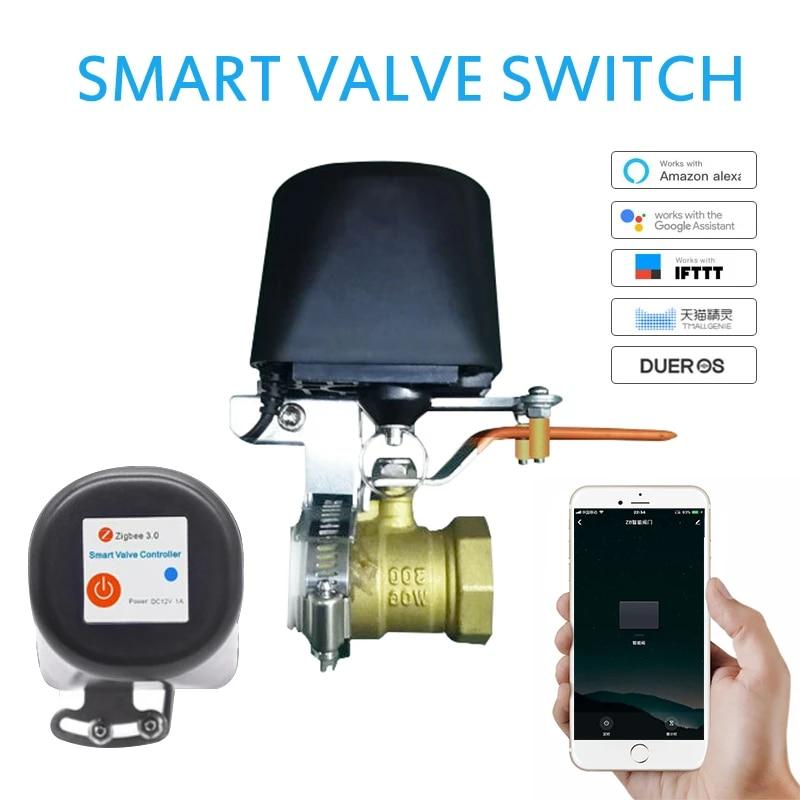 ZigBee Smart Automatic Manipulator Electric Water Gas Valve Smart Valve  Tuya APP Remote Timing Wireless Switch For Alexa Google|Home Automation  Modules| - AliExpress