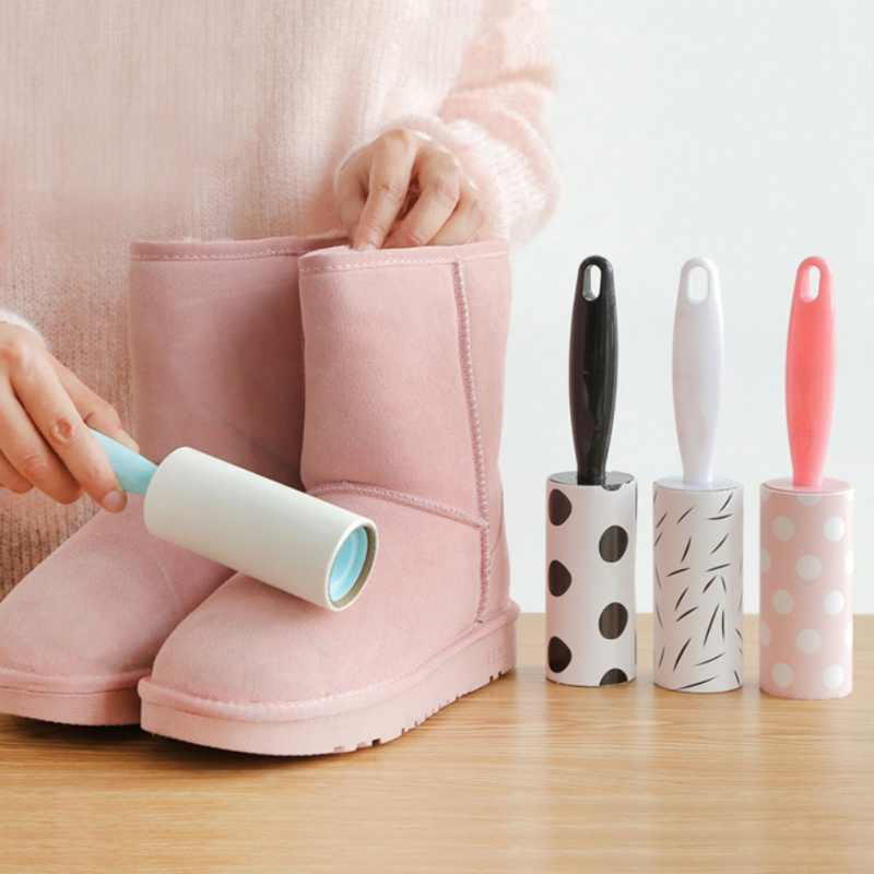 Lint Roller Reusable Washable Lint Roller Sticky Dust Wiper Pet Hair Remover Cleaning Brush Tools for Pet Cloth House Clean Tool
