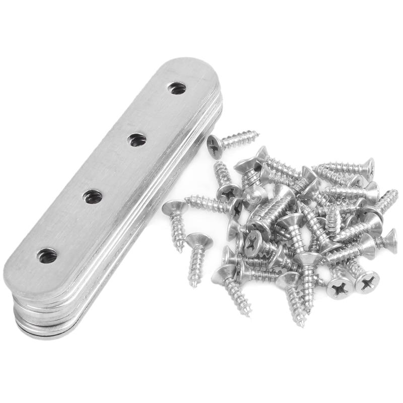 10 Pcs Stainless Steel Flat Straight Brace Brackets Mending Plates Repair Fixing Bracket Corner Brackets     - title=