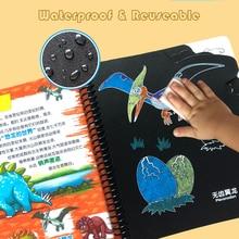 Warmom Игрушки для малышей Мел Рисование книга Детские Картины Сделай Сам доска раскраска для ребенка детские развивающие игрушки подарок