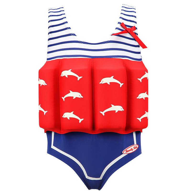Children's Swimsuit Girl Boys Baby Removable Buoyancy Swimsuit Baby Cute Swimsuit Spa One-Piece Swimsuit Learn To Swimming Pants