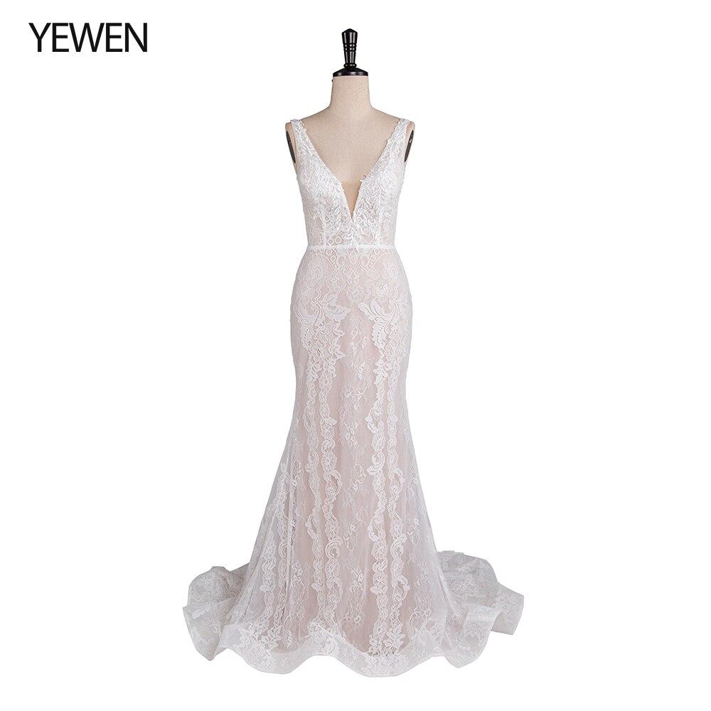 Белые кружевные свадебные платья 2019 свадебное платье Русалка Свадебные платья vestido de noiva свадебное платье новое свадебное платье