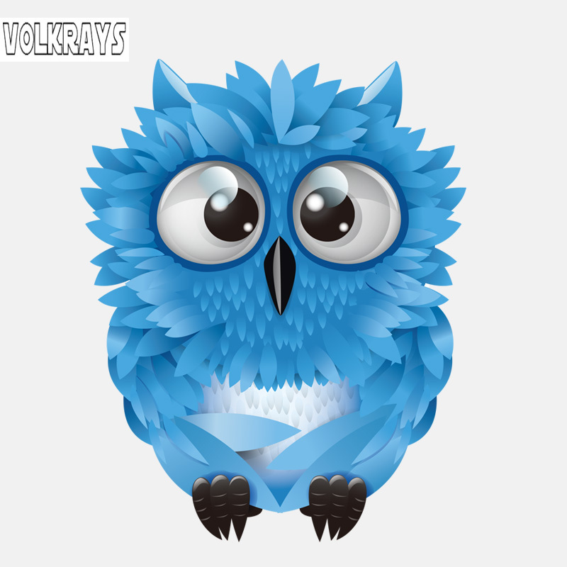 Volkrays Lovely Car Sticker Blue Cute Big Eyed Owl Accessories High Quality Pvc Decal For Land Rover Seat Leon Jdm 15cm 11cm Car Stickers Aliexpress