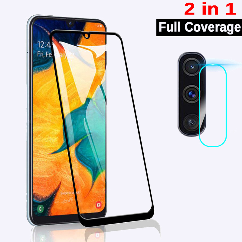 2-in-1 Camera Tempered <font><b>Glass</b></font> For <font><b>Samsung</b></font> Galaxy A50 A40 A70 Screen Protector For <font><b>Samsung</b></font> A30 A20 A10 <font><b>A</b></font> <font><b>50</b></font> 70 40 SM A505F Film image