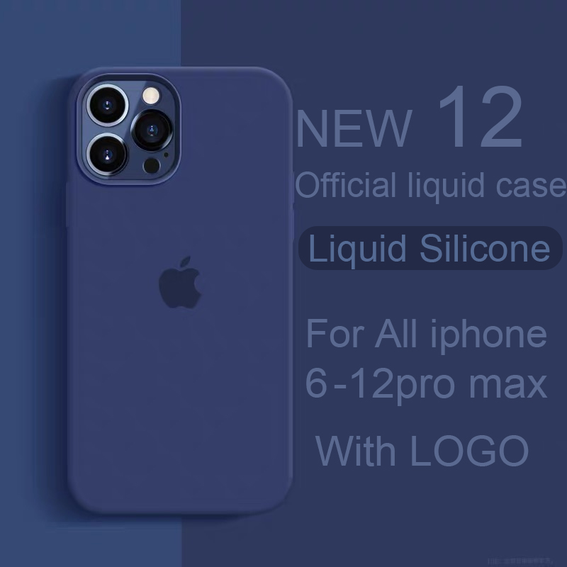 Official With LOGO Silicone Case For iphone 12 pro max 7 8 6 6s plus Case For apple iphone 11 pro max xr xs max x se 2020 Cover|Phone Case & Covers|   - AliExpress