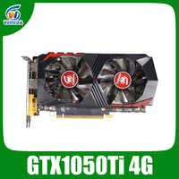 Tarjeta de vídeo Veineda GTX1050Ti 4GB 128Bit 1290/7000MHz tarjeta gráfica para nVIDIA Geforce Games