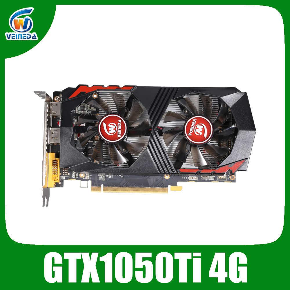 Veineda الفيديو بطاقة GTX1050Ti 4GB 128Bit 1290/7000MHz بطاقة جرافيكس ل nVIDIA غيفورسي ألعاب