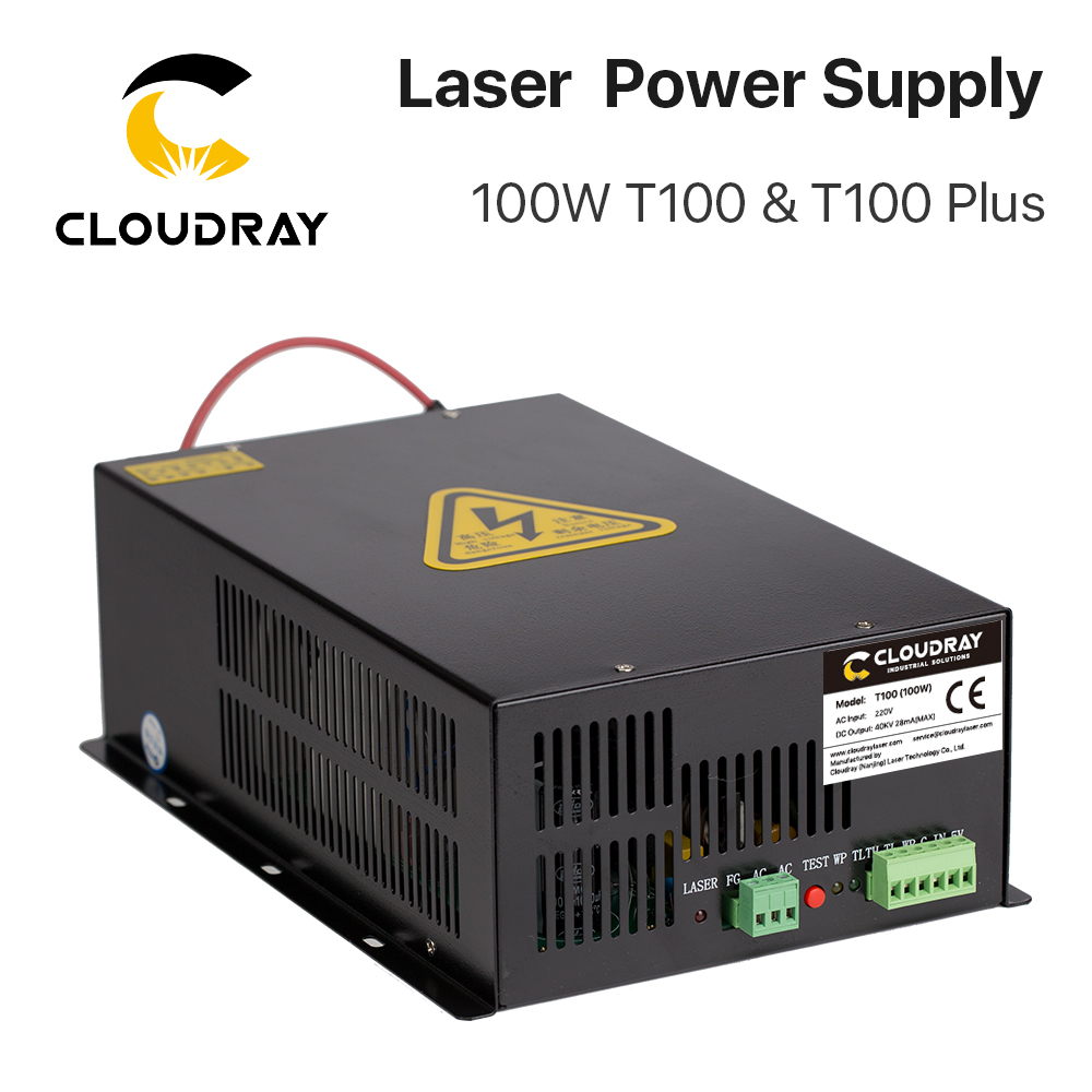 Cloudray 80W-100W CO2-laservoeding voor CO2-lasergravure snijmachine HY-T100 T / W Plus-serie Lange garantie