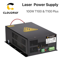 Cloudray 80W-100W CO2 Laser Power Supply Source  for CO2 Laser Engraving Cutting Machine HY-T100 T / W Plus Series Long Warranty