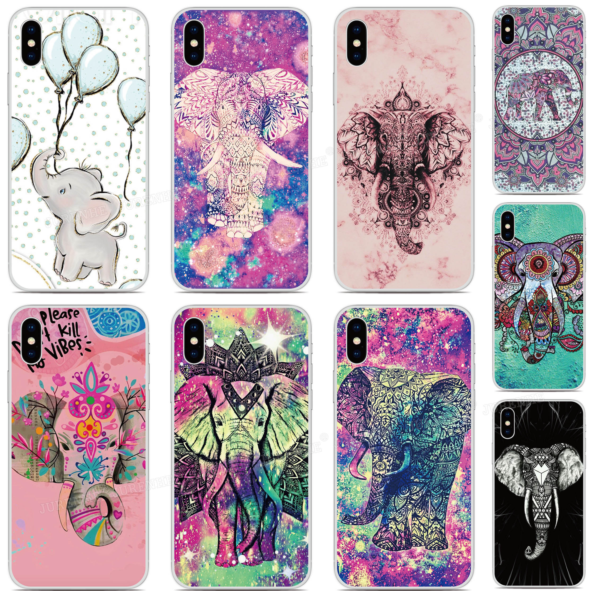 Silicone Cute Elephant Cover <font><b>Cases</b></font> For <font><b>Doogee</b></font> X95 X90 Y8C Mix 2 N20 Y9 Plus N10 Y7 Y8 X70 X60 X50 X30 X55 X60L <font><b>X50L</b></font> Phone <font><b>Case</b></font> image