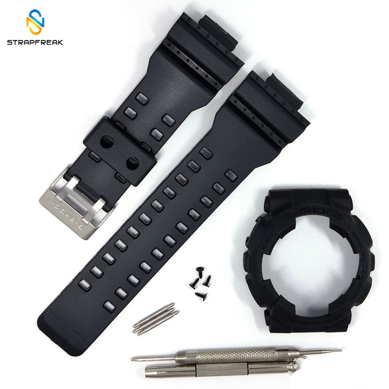 Sport Waterproof Rubber Strap Case For Casio G-SHOCK GA110 100 GD120 100 GLS100 Watch With Case Watch Accessories With Tools