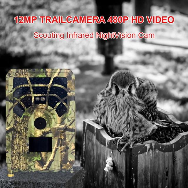 PR300A Hunting Trail Camera 12MP 720P IP56 PIR Sensor Wide Angle Infrared Night Vision Wildlife Trail Thermal Imager Video Cam